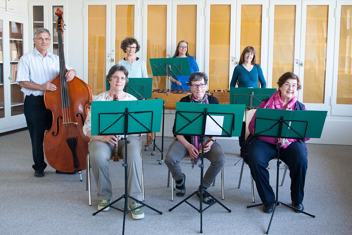 Kantorei Meilen Musicanti sempreverdi beim Üben im Probenraum